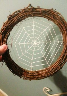 Original spider web dream catcher is made of willow circle. Fibers are tied at seven points of the circle, representing the seven prophecies to Asibikaashi. These seven rays meet in the center where a stone is placed to represent her, the great spider. Eight strands are interwoven with the seven rays to represent spider legs. Result looks like spider web.