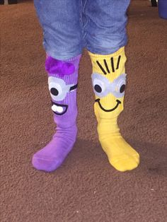 Crazy Sock Day Minions Socks