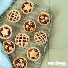 Cranberry-Apple Two-Bite Pies: Tart fruit blended with cinnamon and sugar forms a flavorful filling for these palm-size treats. Serve them as is or give them the full-size pie treatment: topped with a dollop of whipped cream.