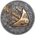 """This beautiful coin is new in series """"Evolution of Life""""andrepresents the salamander-like Diplocaulus which lived in the perm age around 250 – 300 million years ago.  1 oz of 99.9% pure silver Antique finish p..Price: US $159.86"""