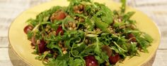Crispy lentils: try as a snack or mixed in salads or with popcorn  Lentil Salad with Arugula and Grapes Recipe   The Chew - ABC.com