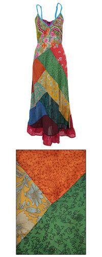 Recycled Sari Patchwork Dress at The Animal Rescue Site    https://www.theanimalrescuesite.com/store/ars/item/48658/recycled-sari-patchwork-dress?source=4-250-54