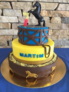 Cowboy cake Para o 7 aniversário do meu amorzinho