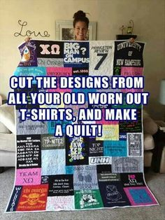 Quilt out of old shirts