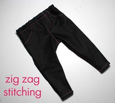 Running With Scissors: Free Pattern and Tutorial: Baby Jeggings
