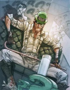 The Riddler by Carlos D'Anda... Actually intimidating rather than just comic