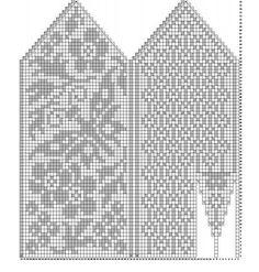 "Вязание. Жаккард - ""Зимняя радуга"" | VK Knitting Charts, Knitting Stitches, Knitting Designs, Knitting Socks, Knitting Projects, Hand Knitting, Knitting Patterns, Knitted Mittens Pattern, Crochet Mittens"