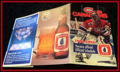 1992-93 MONTREAL CANADIANS MOLSON EXPORT HOCKEY POCKET SCHEDULE ROY ON COVER #Pocket #Schedule