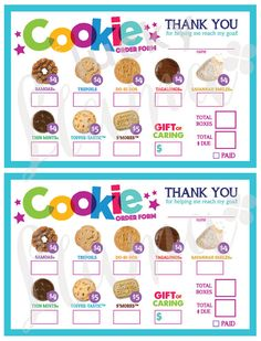 2017 Girl Scout Cookie Order Form Printable by theluckyllamas Girl Scout Swap, Girl Scout Leader, Girl Scout Troop, Brownie Girl Scouts, Boy Scouts, Girl Scout Cookie Sales, Girl Scout Cookies, Girl Scout Activities, Girl Scout Juniors