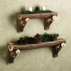 Rustic Timber Log Wall Shelf review | buy, shop with friends, sale | Kaboodle
