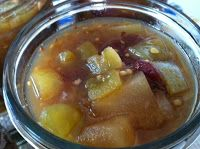 canning green tomato chutney
