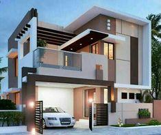 stunning modern home design exterior in 2020 39 Bungalow House Design, House Front Design, Tiny House Design, Cool House Designs, Architect Design House, Kerala House Design, Bungalow Homes, Modern Tiny House, Modern House Plans