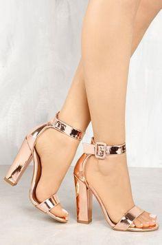 Steal The Scene - Rose Gold - Lola Shoetique Fancy Shoes, Cute Shoes, Me Too Shoes, Women's Shoes, Shoes Style, Top Shoes, Lace Up Heels, Pumps Heels, Stiletto Heels