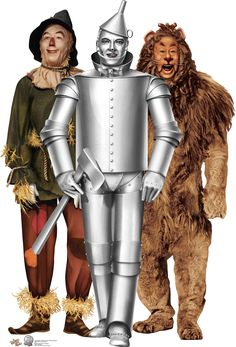 """Tin Man, Cowardly Lion and Scarecrow - """"Wizard of Oz"""" 75 Year Anniversary Cardboard Stand-Up"""