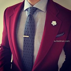 """""""Loving the accessories and stylings from @Suited_Man including their wide selection of knit ties and lapel pins. Get them now at www.suitedman.com 