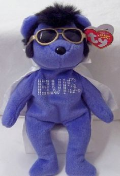 Elvis Blue Bear White Cape Ty Beanie Babies New With Tag  19.99 Free  Shipping USA Beanie 6f1af756577a