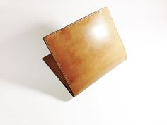 Japan's Cordovan with Italy Veg-tanned Wallet Leather Products, Handmade Leather, Italy, Wallet, Crafts, Italia, Manualidades, Handmade Crafts, Craft