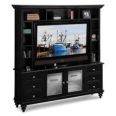 Catskills Entertainment Wall Units 2 Pc. Entertainment Wall Unit   Value  City Furniture $899.99 #