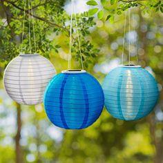 "3 Blue Solar Hanging Nylon Lanterns, 12"", Warm White LEDs... https://www.amazon.com/dp/B01HDZV6CK/ref=cm_sw_r_pi_dp_x_uYjFzb2QZETJY"