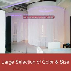 [High quality] 3'x12' (90x365cm) White String Curtain Fringe Curtain panel for wedding decor and event decor from Reliable curtain cloth suppliers on Oedel Wholesale