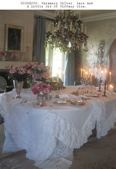 Romantic Dining Room {Sharon Osbourne's}