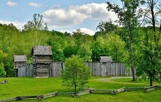 Prickett's Fort in Fairmont, West Virginia by Robert Keith Conrad