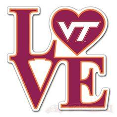 VT Love Decal