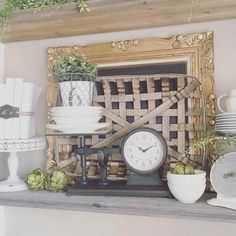 Beautiful clock for your Urban Farmhouse. Interior decorating tips from Bello Lane, Urban Farmhouse Home Decor Interior Decorating Tips, Interior Design Tips, Interior Design Kitchen, Summer Decorating, Decorating Ideas, Design Ideas, Country Decor, Farmhouse Decor, Urban Farmhouse