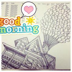 Up drawing! #up #balloons #drawing