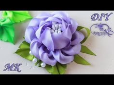 🌹 Rose of ribbons. Diy Lace Ribbon Flowers, Ribbon Art, Diy Ribbon, Fabric Ribbon, Ribbon Crafts, Flower Crafts, Rose Flowers, Ribbon Rose, Ribbon Embroidery Tutorial