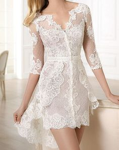 Here, I want to share 15 Sexy Short Wedding Dresses for Style Lovers. Certainly, sexy short wedding dresses are the best for your wedding Short Lace Wedding Dress, Tulle Wedding Gown, Sexy Wedding Dresses, Bridal Dresses, Short Dresses, Dresses 2014, Prom Dresses, Wedding Veil, Dress Prom