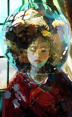 // by Yuriy Khudov Arte Indie, Dope Art, Pretty Art, Aesthetic Art, Art Inspo, Amazing Art, Art Reference, Character Art, Concept Art