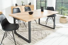 Products Design Esstisch Canadian Wild Oak Eiche Riess AmbienteRiess Ambiente How Landscape Pa Office Furniture Design, Home Office Design, Cool Furniture, Diy Design, Esstisch Design, Upholstered Bench, Office Interiors, Dining Room Table, Room Chairs
