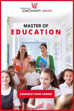 Advance your education career 100% online through the University of Cincinnati. Whether you're looking to move into administration or improve classroom management and planning, we're here to help with master's degrees in Educational Leadership and Curriculum and Instruction. Take the next step today!  •  #SpecialEducation #Principal #OnlineLearning #ELearning #STEM #GiftedEducation