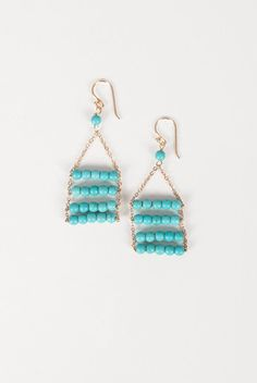 Tiered Turquoise Earrings online now!