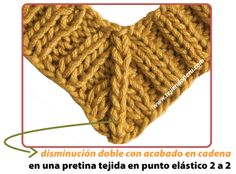 Cómo hacer disminuiones de puntos al tejer en dos agujas o palitos Knitting Stiches, Lace Knitting, Crochet Lace, Crochet Girls Dress Pattern, Knitting Patterns, Crochet Patterns, Seed Stitch, Tips, Knitted Baby Clothes