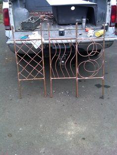 Plant trellis from scrap copper pipe