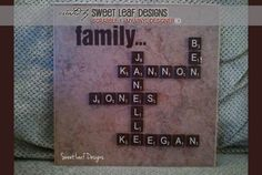 DIGITAL DOWNLOAD - a finished photo showing how the vector designs @ My Vinyl Designer can be used on tile as trendy home decor (https://www.myvinyldesigner.com/Products/scrabble-1.aspx) #home vinyl