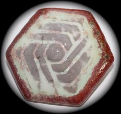 Ruskin Pottery Button Large by KPHoppe on Etsy