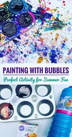 Bubble Painting Fun Summer Activity Painting With Bubbles is super fun! Perfect Summer Activity for kids! The post Bubble Painting Fun Summer Activity appeared first on Summer Diy. Summer Activities For Kids, Fun Crafts For Kids, Summer Crafts, Summer Kids, Toddler Activities, Projects For Kids, Art Projects, Camping Activities, Sensory Activities