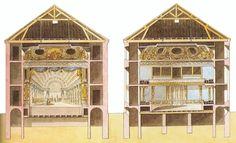Theatre de la Reine Versailles Versailles, Antoine Laurent, The Barber Of Seville, Queens Theatre, Moving Backgrounds, Little Theatre, Wooden Room, Jeff Koons, Simple Interior