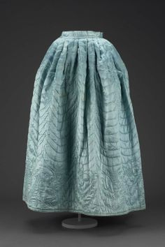 last quarter of the 18th century Silk satin petticoat