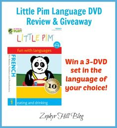 Little Pim French Language DVD's Review & Giveaway
