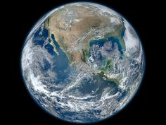 A 'Blue Marble' image of the Earth taken from the VIIRS instrument aboard NASA's most recently launched Earth-observing satellite - Suomi NPP. This composite image uses a number of swaths of the Earth's surface taken on January 4, 2012. The NPP satellite was renamed 'Suomi NPP' on January 24, 2012 to honor the late Verner E. Suomi of the University of Wisconsin.
