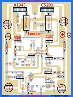 transistor circuit diagram of and - Electronics Help Care Electronics Projects, Arduino Projects, Simple Electronics, Hifi Amplifier, Class D Amplifier, Loudspeaker, Placa Pcb, Software Architecture Diagram, Activity Diagram