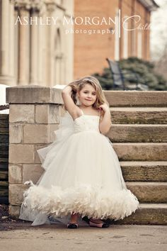 """""""Vintage Bridal Dreams""""...One of our Couture Flower Girl Dresses"""
