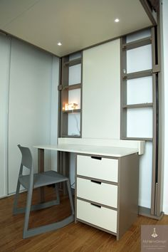 Lits escamotables on pinterest lit mezzanine bureaus - Chambre gain de place ...