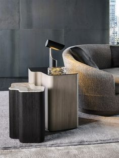 Lou coffee tables. Design by Christophe Delcourt for Minotti. #sidetable #furniture