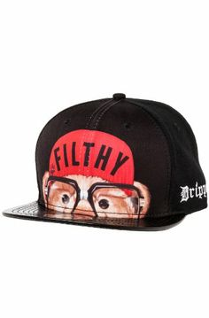 2e4703a69dc Filthy Men s Spike Bear Faux Leather Brim Snapback One Size Black  Filthy