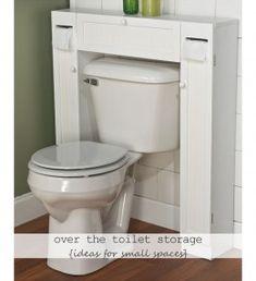 Small bathroom storage idea that's actually pretty slick looking